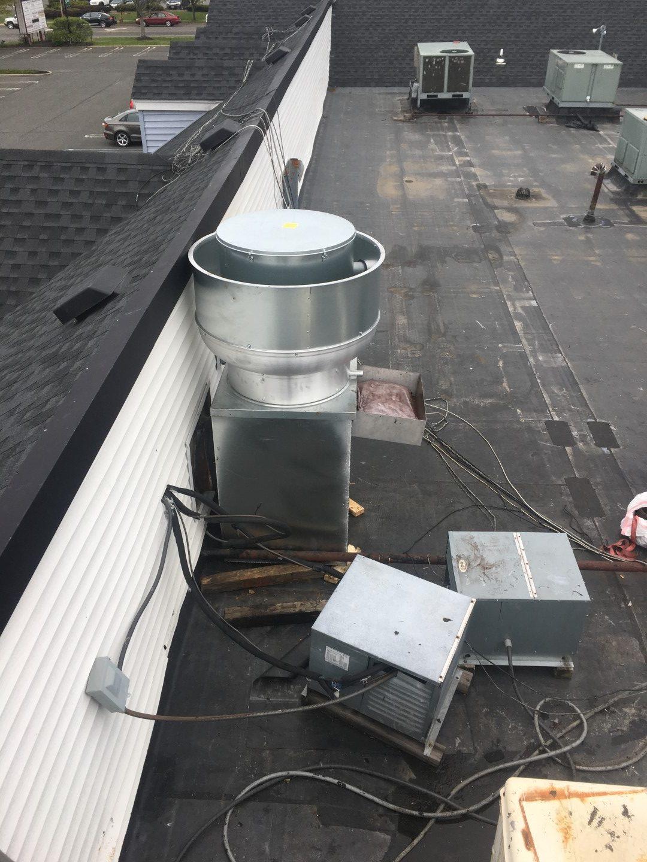 Custom Kitchen Exhaust fan installation